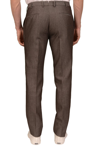 INCOTEX (Slowear) Brown Wool-Linen Flat Front Dress Pants EU 48 NEW US 32 Slim F
