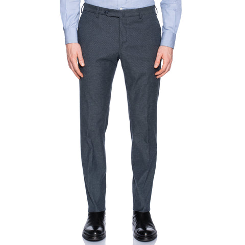 INCOTEX (Slowear) Blue Nailhead Cotton Stretch Pants NEW Slim Fit