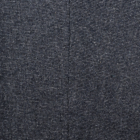 INCOTEX (Slowear) Blue Nailhead Wool-Cotton Flannel Pants NEW Slim Fit