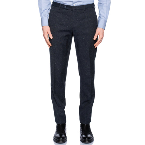 INCOTEX (Slowear) Dark Blue Donegal Wool-Silk-Linen Pants NEW Slim Fit