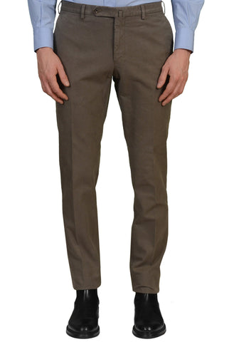 INCOTEX (Slowear) Gray Cotton Twill Flat Front Slim Fit Pants NEW