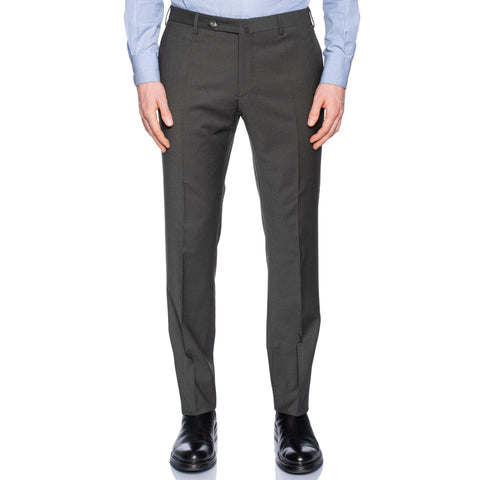 INCOTEX (Slowear) Gray Wool Stretch Flat Front Dress Pants NEW Slim Fit