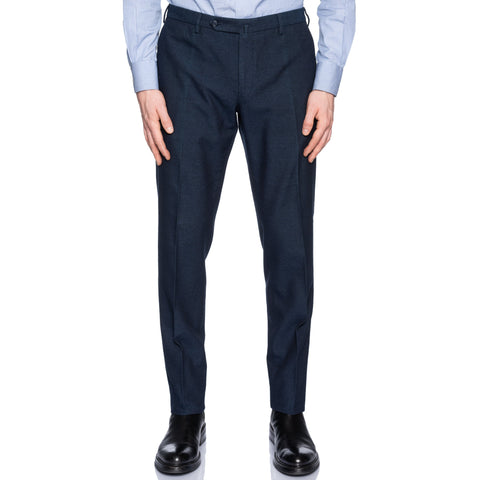 INCOTEX (Slowear) Dark Blue Cotton-Wool Pants NEW Slim Fit