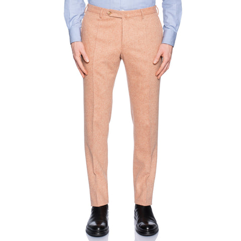 INCOTEX (Slowear) Light Salmon Color Wool Flannel Pants NEW Slim Fit