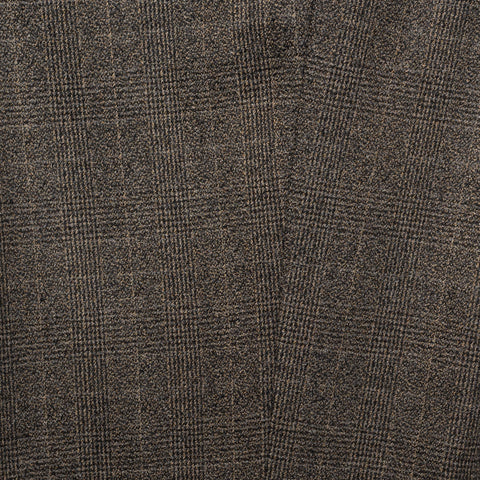 INCOTEX (Slowear) Taupe Gray Plaid Wool Stretch Pants NEW Super Skin Fit