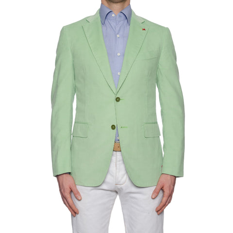 "ISAIA Napoli ""Aquacord"" Handmade Green Cotton Corduroy Sport Coat Jacket NEW"