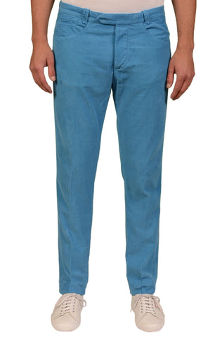 ITALIA INDEPENDENT Blue Cotton Corduroy Slim Fit Jeans Pants EU 52 NEW US 36