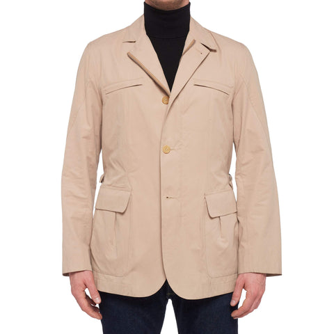 K. Punto Rosso by KITON Napoli Tan Cotton Safari Jacket EU 50 US 40 / M