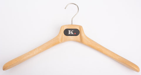 Kiton K. PUNTO ROSSO Beige Plastic Wood Look Coat Hanger Set of 5 Size 46/XL