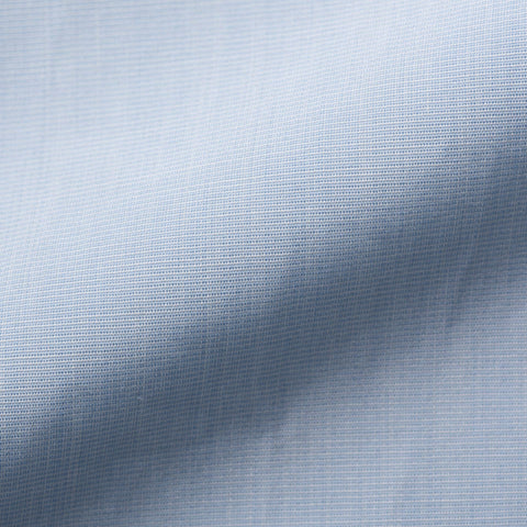 KITON Handmade Bespoke Solid Light Blue End-on-End Cotton Dress Shirt US 15.75