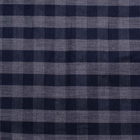KITON Handmade Gray-Blue Plaid Herringbone Cotton Button-Down Shirt 40 NEW US 15.75