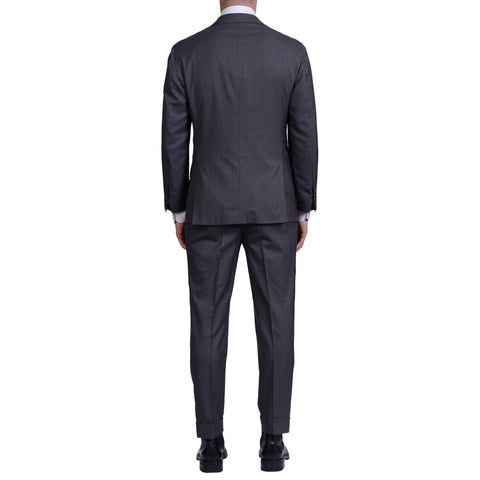 KITON For TROIS POMMES Handmade Gray Wool Suit EU 48 US 38