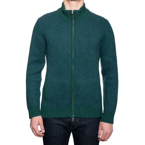 KITON Green Cashmere Knit Zip Front Cardigan Sweater EU 50 NEW US M