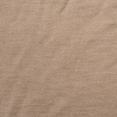 KITON Napoli Beige Cashmere-Silk Shawl Collar Sweater EU 50 NEW US M