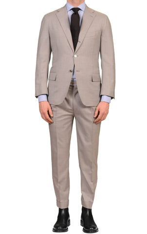 "KITON Napoli For TROIS POMMES ""Diamante Blu"" Gray Super 150's Suit 48 US 38"