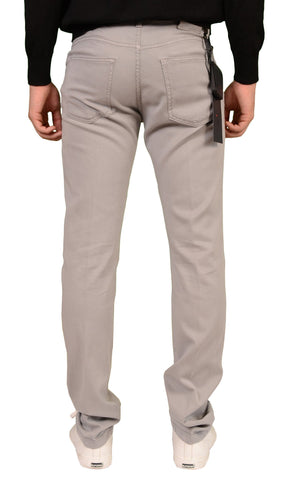 KITON Napoli Gray Slim Fit Lyocell Jeans Pants NEW 5 Pockets - SARTORIALE - 2
