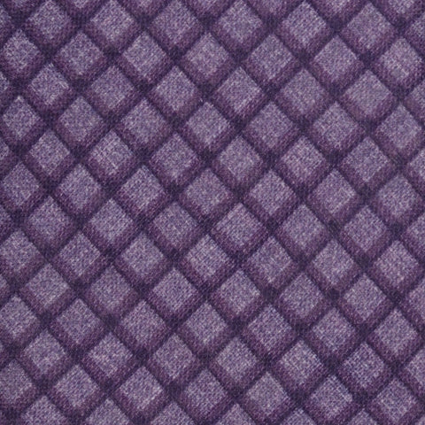 KITON Napoli Hand-Made Seven Fold Purple Plaid Silk Tie NEW