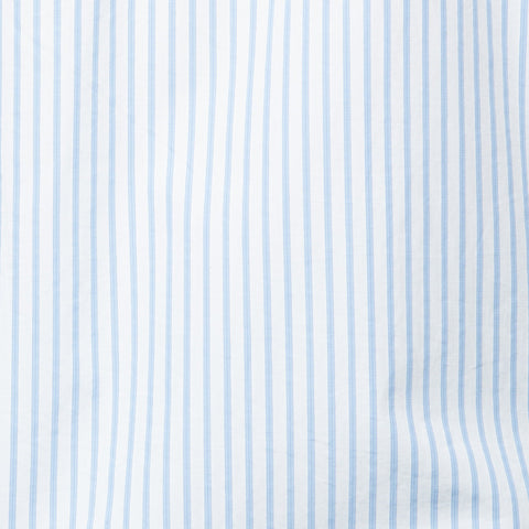 KITON Napoli Handmade Blue Striped Cotton Dress Shirt EU 39 US 15.5