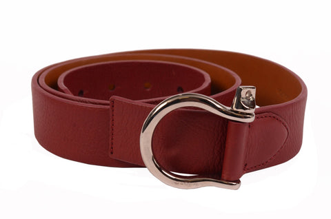 "KITON Handmade Crimson Scotch Grain Calf Equestrian Belt 95cm 38"" NEW With Box - SARTORIALE - 2"
