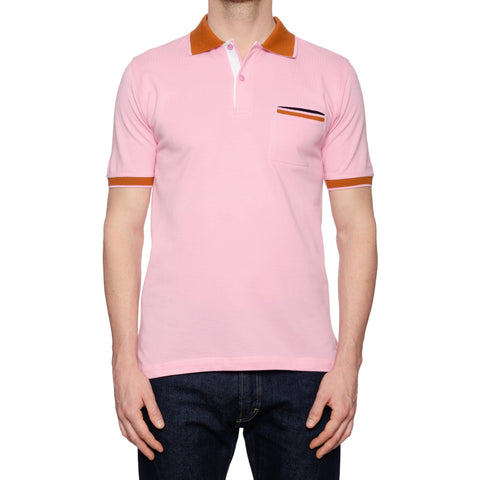 KITON Napoli Pink Cotton Pique Short Sleeve Polo Shirt NEW