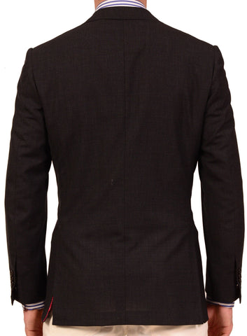 KITON Napoli Solid Charcoal Gray Wool Blazer Jacket US 38 40 NEW EU 50 R8 Slim - SARTORIALE - 2