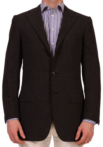 KITON Napoli Solid Gray Wool-Mohair Summer Jacket Blazer EU 48 L NEW US 38 Long - SARTORIALE - 1