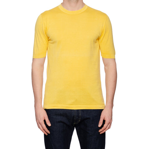 KITON Napoli Yellow Cotton Crewneck Short Sleeve T-Shirt EU 50 NEW US M