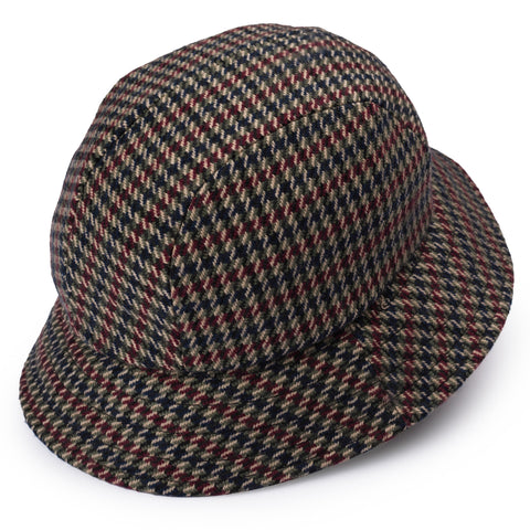 "RUBINACCI London House by Herbert Johnson UK Wool Tweed ""Bucket Hat"" M-51cm"