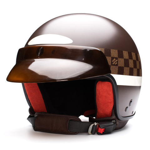 LOUIS VUITTON Damier Mini Jet GM Motorcycle Helmet Limited Edition 58 Box, Bag