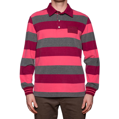 "SAINT JAMES Nautique ""Alexis"" Multi-Color Striped Cotton Polo Sweater NEW Size L"