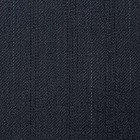 SARTORIA CASTANGIA Blue Striped Wool Double Breasted Suit EU 52 NEW US 42