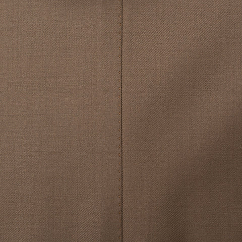 SARTORIA PARTENOPEA Napoli Hand Made Khaki Wool Business Suit NEW L7 Long