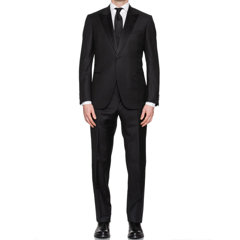 SARTORIA CASTANGIA Black Wool Super 130's Tuxedo Suit EU 50 NEW US 40