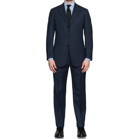 SARTORIA CASTANGIA Blue Striped Wool Super 130's Unlined Suit EU 50 NEW US 40