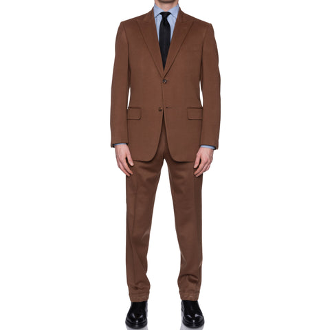 SARTORIA CASTANGIA Handmade Wool Silk Lined Peak Lapel Suit 52 NEW US 42