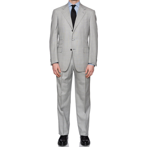 SARTORIA CASTANGIA Handmade Gray Wool Super 140's Suit EU 52 NEW US 42