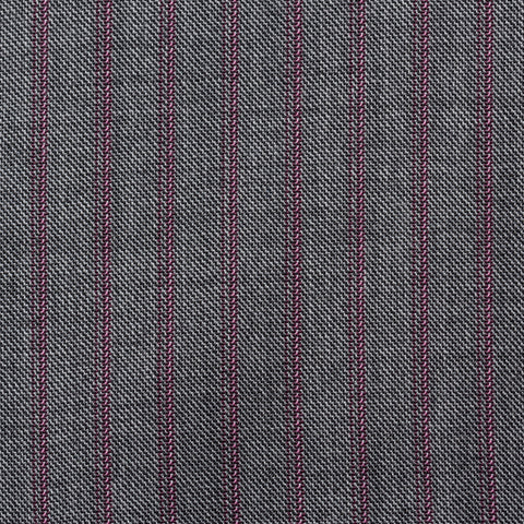 SARTORIA CASTANGIA Handmade Gray Striped Wool Suit EU 50 NEW US 40