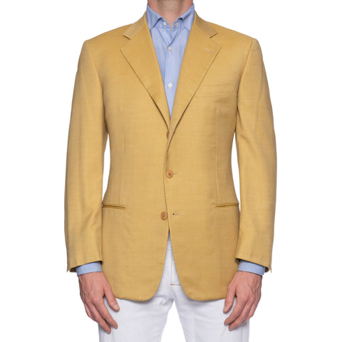 CASTANGIA Yellow Herringbone Australian Merino Wool Jacket 50 NEW 40