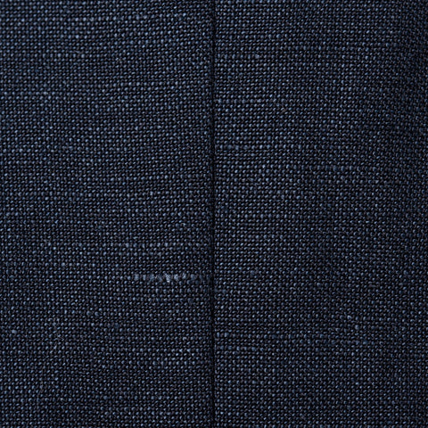 Sartoria PARTENOPEA Hand Made Navy Blue Wool Linen Blazer Jacket NEW