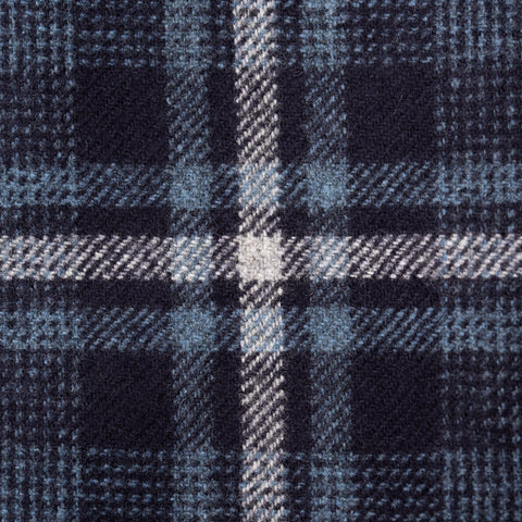 Sartoria PARTENOPEA Handmade Blue Plaid Wool Jacket Sports Coat EU 52 NEW US 42