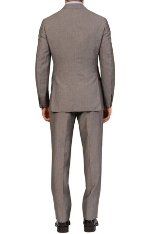 Sartoria PARTENOPEA Hand Made Solid Light Gray Wool-Linen Suit NEW - SARTORIALE - 2