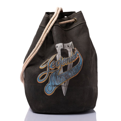 THEDI LEATHERS V LEGENDARY Wax Canvas Biker's Beach Bag Ltd. Ed. of 20 Pcs