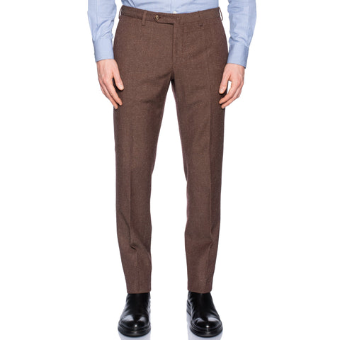 INCOTEX (Slowear) Brown Donegal Wool-Silk-Linen Pants NEW Slim Fit