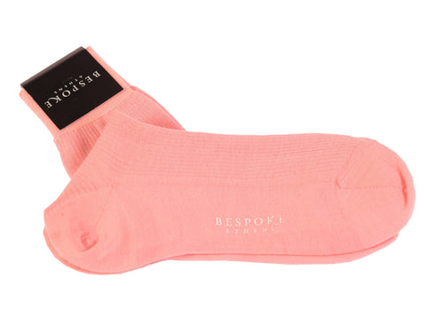 BRESCIANI For BESPOKE ATHENS Solid Pink Wool Blend Socks NEW Size L