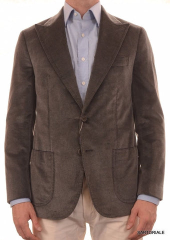 Sartoria PARTENOPEA Hand Made Silk-Wool Peak Lapel Velvet Jacket 38 40 NEW 50 - SARTORIALE - 2