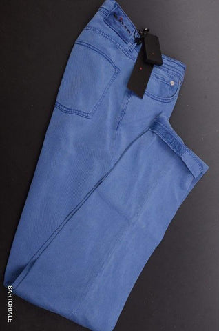 KITON Napoli Blue Slim Fit Lyocell Jeans Stretch Pants 5 Pockets US 30 NEW - SARTORIALE - 1