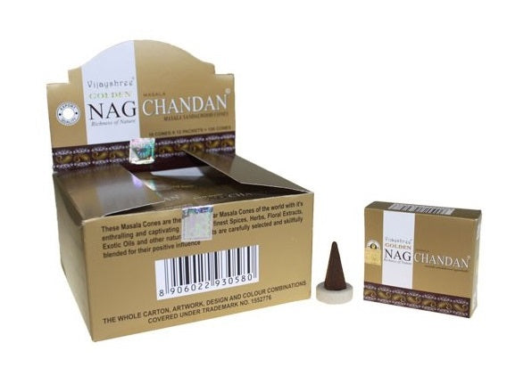 Incenso Cones - Golden Nag Chandan