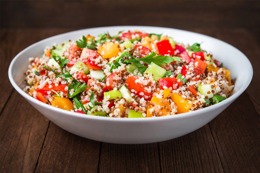 Triple Delight Salad – Vegan Quinoa Salad!
