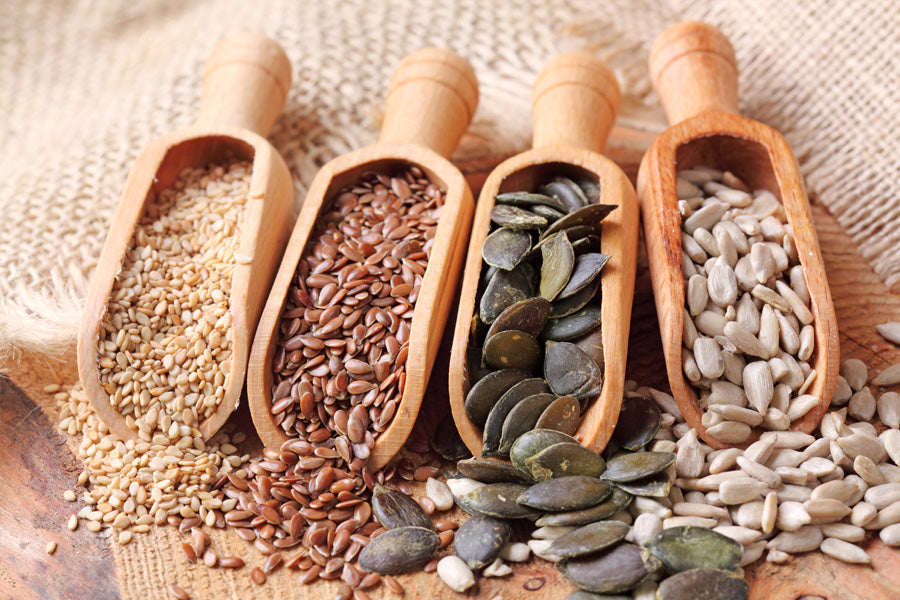 Which edible seeds are good for you, and how can they be consumed?