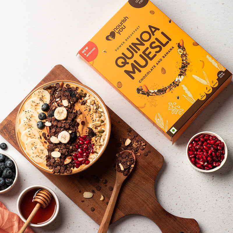 QUINOA MUESLI - CHOCOLATE & BANANA | 375g